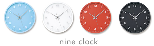 Lemnos Design nine clock