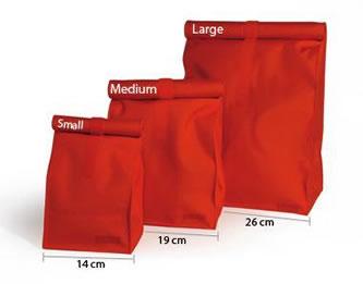 ランチバッグは3つの大きさから選べます