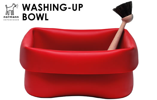normann Copenhagen washing-up bowl and brush