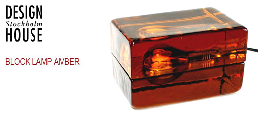 Design House Stockholm Block Lamp Amber