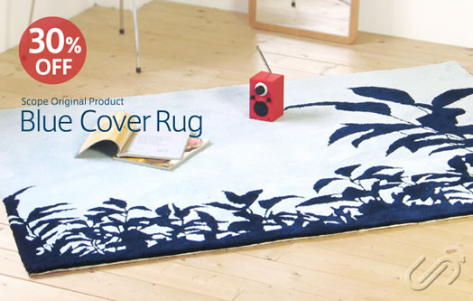 scope blue cover rug