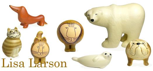 Lisa Larson 動物のオブジェ